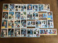 1983 KANSAS CITY ROYALS Topps COMPLETE Baseball Team Set 32 Cards BRETT BLUE!