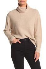 Sanctuary Women's Shaker Ribbed Knit Turtleneck Sweater Tan Size XS NWT