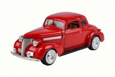 1939 CHEVY COUPE RED 1/24 SCALE DIECAST CAR BY MOTOR MAX 73247AC/R