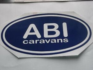 ABI LARGE Vinyl Stickers large Caravan Camping  set x4