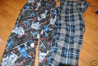 LOT OF 2 JOE BOXER  BOYS PAJAMA BOTTOMS  SNOWBOARDING + PLAID SIZE M MEDIUM 8