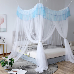 Fairy Romantic Princess Lace Canopy Mosquito Net No Frame Hooks Bed Curtain Home