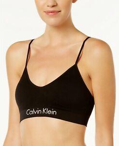Calvin Klein Womens Horizon Seamless Bralette Black M
