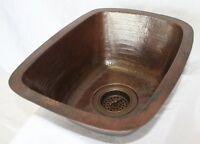 16 Quot Rectangular Copper Bar Prep Sink 3 5 Quot Drainhole Ebay