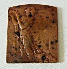 C162 Médaille Bronze - P Theunis 1883 - 1950 - Foyer des Orphelins - H 7,5cm