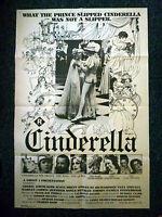 "CINDERELLA Adult Fairytale Original 1977 One Sheet Movie Poster Cheryl ""Rainbeau"