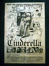 CINDERELLA R-Rated Fairytale Original 1970s OS Movie Poster Sexy Cheryl Smith