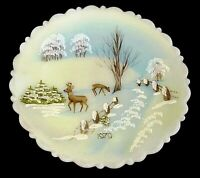 Fenton Glass Plate Nature's Christmas Classic Series 1979 Limited Edition