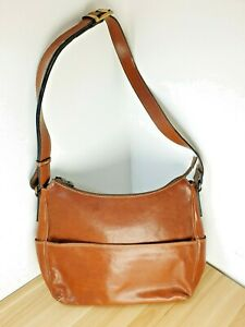 Gianni Conti Leather Conker Brown Bag - Used Very Good Condition