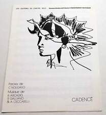 Partition sheet music CLAUDE NOUGARO : Cadencé * 80's