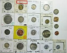 New ListingCentral & South America. Lot Of 20 Different Coins. Peru, Mexico, Chile, Etc.