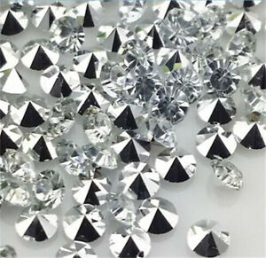 High Quality 100Pcs 6Mm White Crystal Beads Point Back Rhinestones Resin Chatons