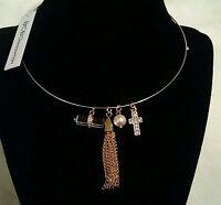 NWT $24 BCBGeneration BCBG Gold Rhinestone Necklace/Choker