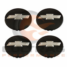 2016-2018 Colorado Genuine GM Gloss Black Bowtie Center Cap Set Of 4 19332925