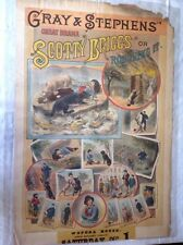 GRAY & STEPHENS' GREAT DRAMA / SCOTTY BRIGGS OR ROUGHING IT Poster. Circa 1883
