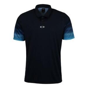 NEW Oakley Men's Short Sleeve Logo Polo SHIRT LARGE FATHOM BLUE 434466