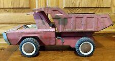 Buddy L Vintage Red Hydraulic Dump Truck Heavy Duty Pressed Steel