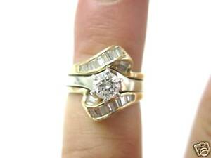 Fine Engagement Thick Diamond Solitaire Ring 14KT 1.06Ct
