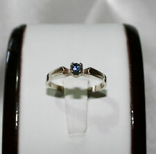 Australian natural earth-mined blue sapphire in 9 carat white gold ring