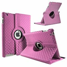 PINK Diamond Fashion Leather 360° Rotating Stand Case Cover For iPad 2/3/4 UK