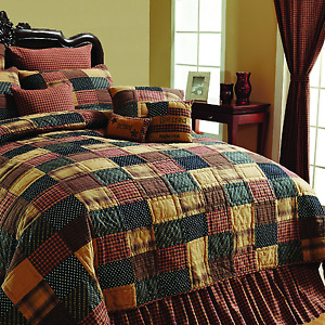 VHC Brands Patriotic Patch Primitave Country Quilt in 4 sizes