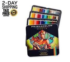 72 Prismacolor Premier Colored Pencils Platinum Soft Core Artist Paint Tine Case