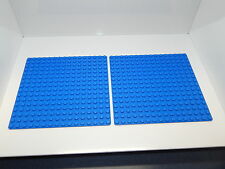 "Lego Lot Of 2 Brand New Blue 16x16 5""x 5"" Building Plate"