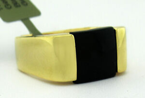 GENUINE 2.76 Cts BLACK ONYX  RING 10K GOLD * New With Tag *  6.5 grams