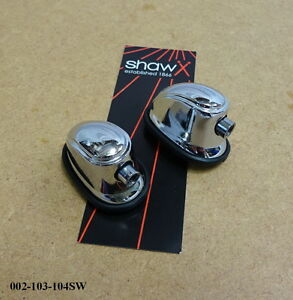 SHAW Snare Drum / Tom Tom Tension Lug / Bracket (Chrome) (PAIR) 002-103-104SW