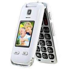 EG520 desbloqueado GSM Clamshell teléfono móvil botón SOS, pantalla dual mayores