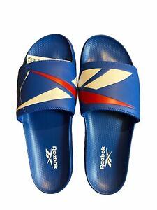 Reebok Classic Slides Blue Red White Sandals FW5754 Men 13 US Women 14.5 US