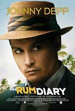 THE RUM DIARY Movie POSTER 27x40 Johnny Depp Aaron Eckhart Amber Heard Giovanni