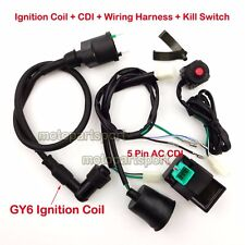 Wiring Harness Kill Switch Ignition Coil CDI For 50-160cc Pit Bike SSR Thumpstar