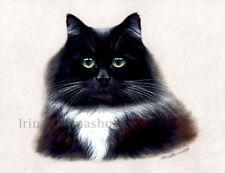 Estampado de Gato Fluffy De Original por By Irina garmashova