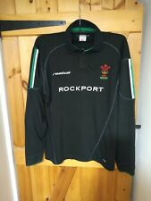 """VINTAGE WALES 2002 AWAY LONG SLEEVE RUGBY UNION SHIRT BY REEBOK SIZE M 42/44"""""""