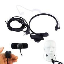 Throat Mic Earpiece Headset PTT for Baofeng Kenwood TYT Walkie Talkie Radio 2PIN