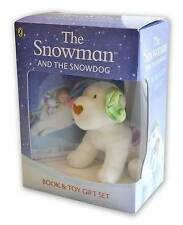 NEW BOX - SNOWMAN and the SNOWDOG   BOOK & CUDDLY SOFT TOY GIFT BOX