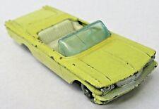 Matchbox #39 PONTIAC CONVERTIBLE yellow gray plastic wheels diecast