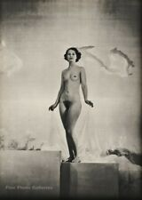 1935 Vintage Art Deco Female Nude WYNN RICHARDS Original Photo Gravure Art 16X20