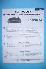 service-manual-instructions pour Sharp rp-8800h, original
