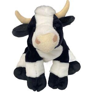 Cow Plush Calf Black White Spot Dairy Farm Stuffed Animal 2003 K M International