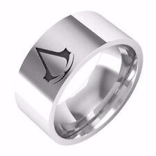 Stainless steel Assassin's Creed ring Stylish fashionable sleek band logo