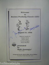 1996 Sports Show Program signed by Harry Walker and Maury Wills