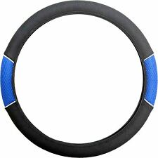 Blue Black Steering Wheel Cover Soft Grip Mesh Look for Saab 9-3 93 All Models