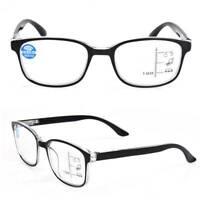 +1.0 - +4.0 Progressive Multifocal Lens Blue Film Anti-radiation Reading Glasses