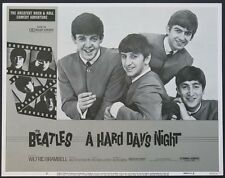 A HARD DAY'S NIGHT THE BEATLES R-1982 LOBBY CARD #7