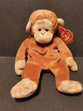 1995 Ty Beanie Baby Bongo the Monkey PVC Pellets W/Tags