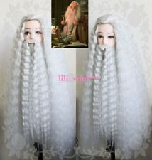 Harry Potter Albus Dumbledore Silver Gray Costume Party Cosplay Wig Mustache