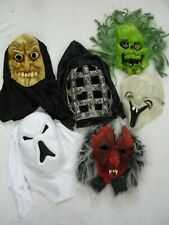 6 x Scary Monster Devil Ghost Halloween Fancy Dress Masks Adults Kids Childrens