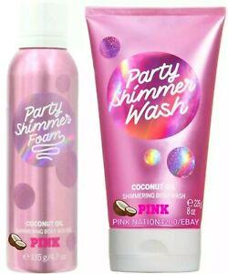 Victoria's Secret PINK PARTY Shimmer Mousse & Party Shimmer WASH SET + Bonus $39